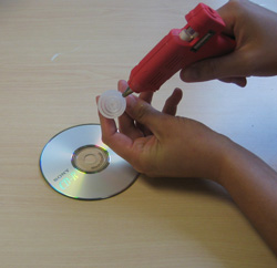 Gluing pop-top cap on disk